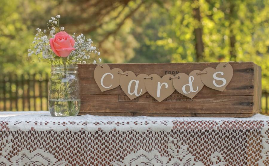 Mariage - Cards Banner- Cards Sign- Rustic Wedding- Shabby Chic Wedding- Reception Sign