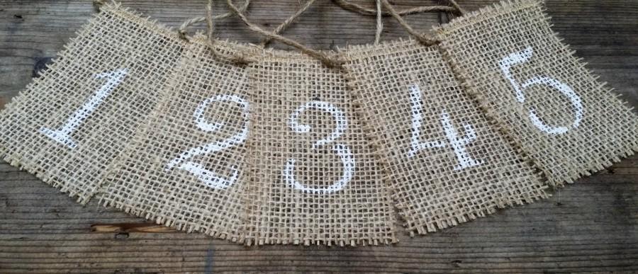 Mariage - Burlap Table Numbers, Rustic Wedding Decor, Burlap Table Number Tags, Burlap Centerpieces, Mason Jar Tags