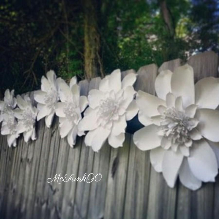 Wedding - Weddings Large Handmade Paper Magnolia 10-18 Inch Flowers in The Color of Your Choice