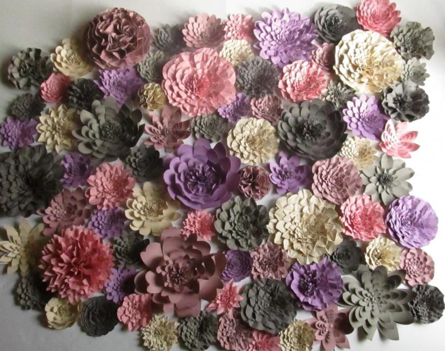 زفاف - Weddings Huge lot of paper flowers 5-10 Inches for Photo backdrop Colors of your Choice