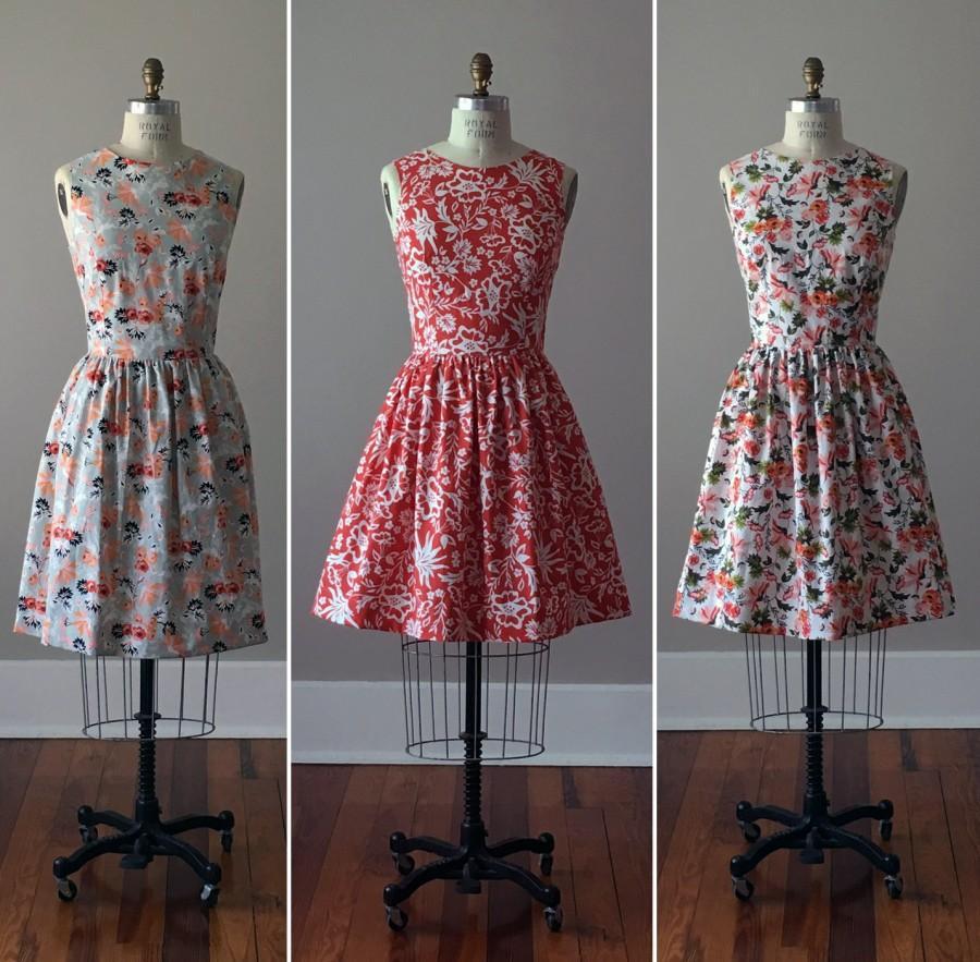 Wedding - Floral Bridesmaid Dresses / Handmade / Floral / Custom / Wedding / Rustic / Mismatched / Bridesmaids / Vintage Inspired Dress