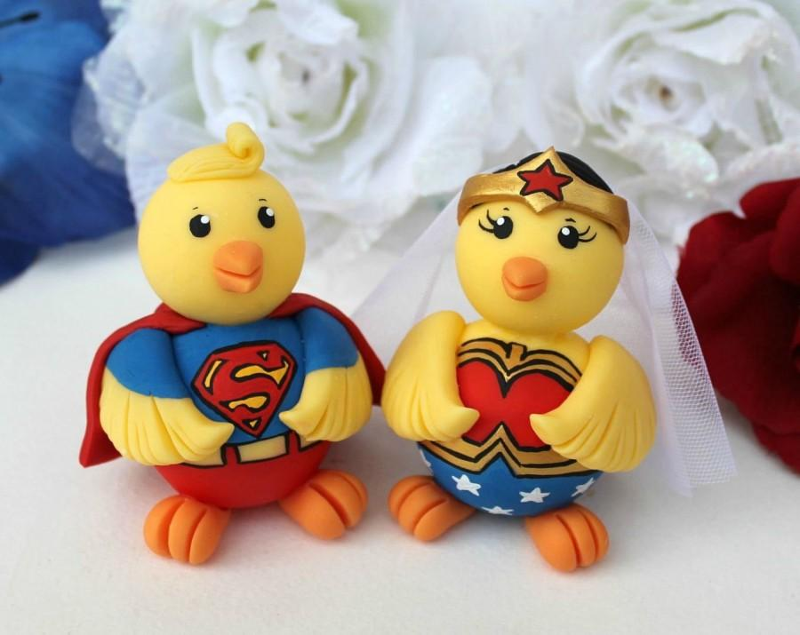Superhero Chick Wedding Cake Topper - Comic Themed Wedding ...
