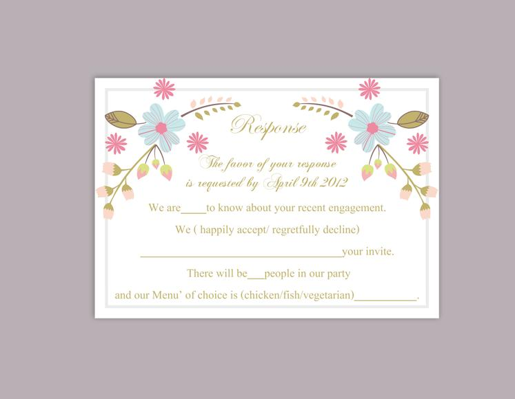 DIY Wedding RSVP Template Editable Word File Instant Download Rsvp – Party Rsvp Template