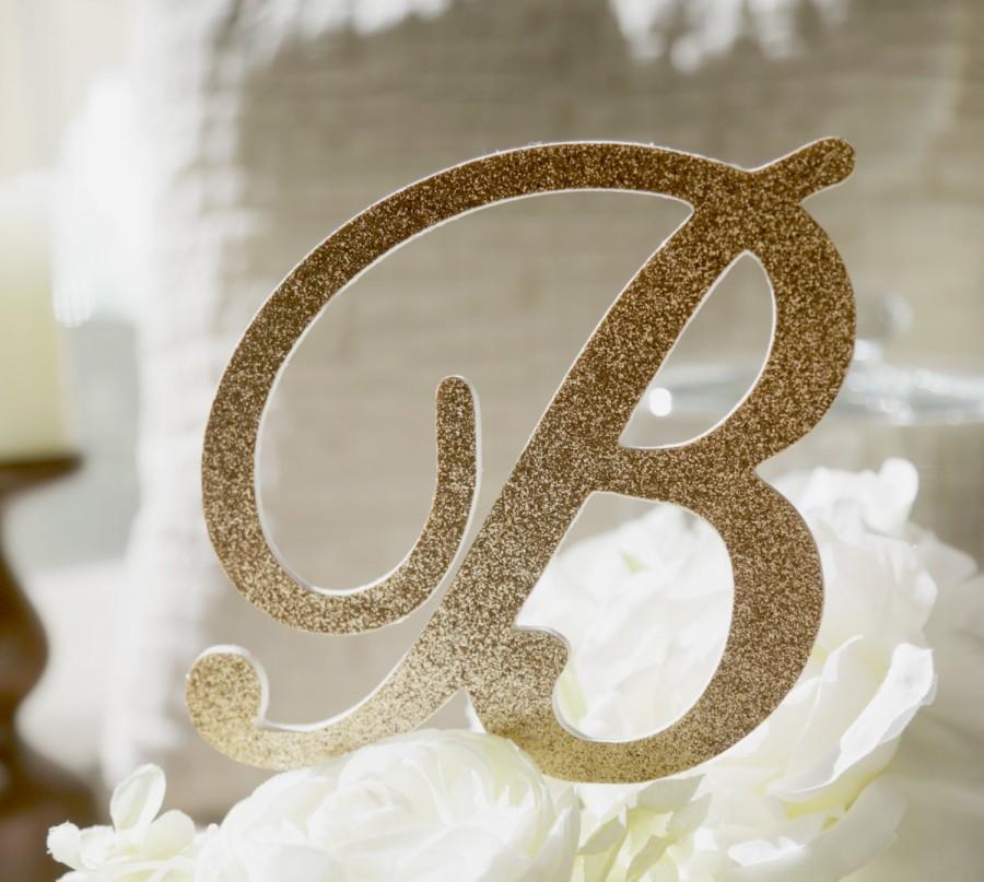 Свадьба - Monogram glitter cake topper,Gold Monogram cake toppers, Personalized MonogramCake topper,Wedding Cake Topper in your Choice of Glitter
