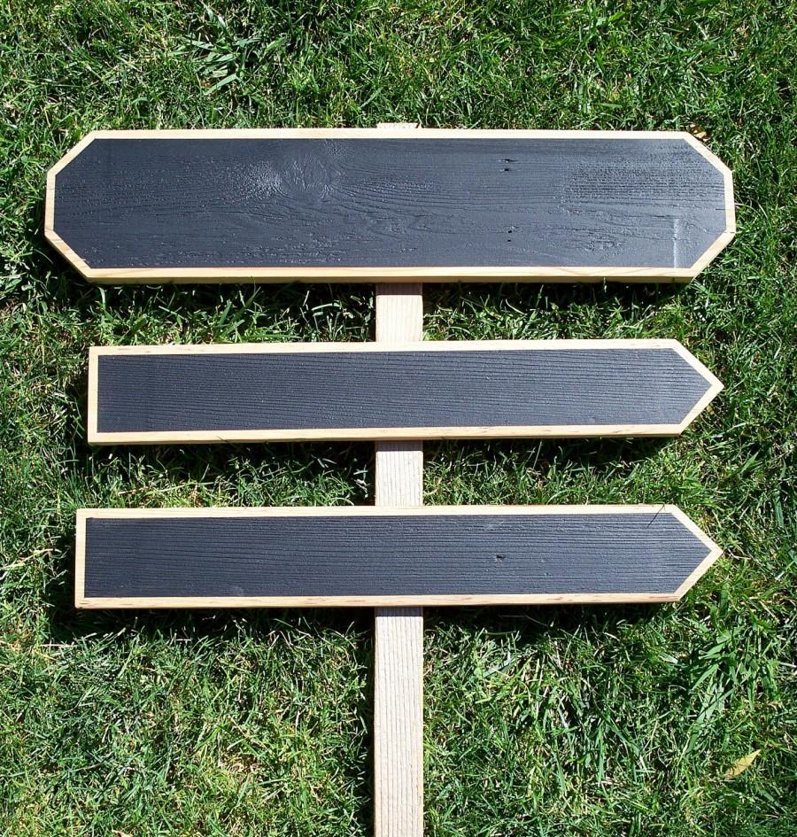 Wood Wedding Signs Chalkboard Sign Kit Arrow Indoor Outdoor Directional