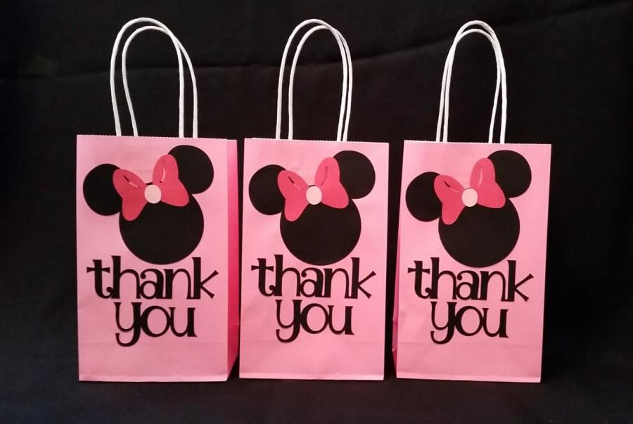 Свадьба - Minnie Mouse party favor thank you bag 12bags