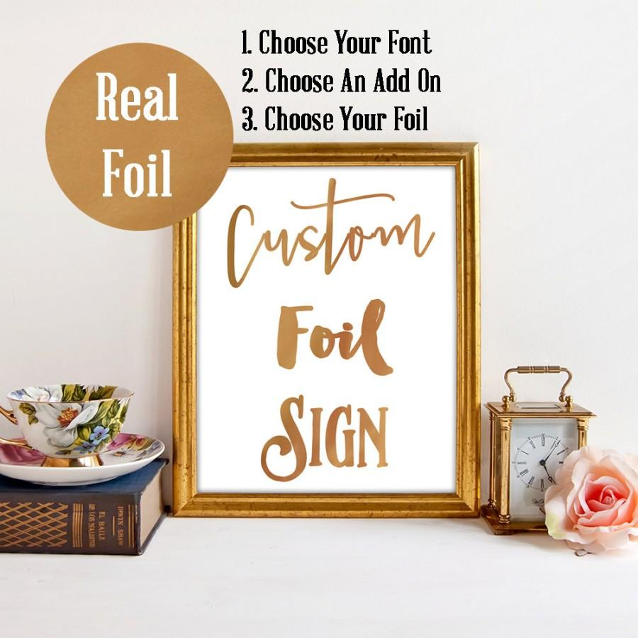 Mariage - Real Foil Custom Sign