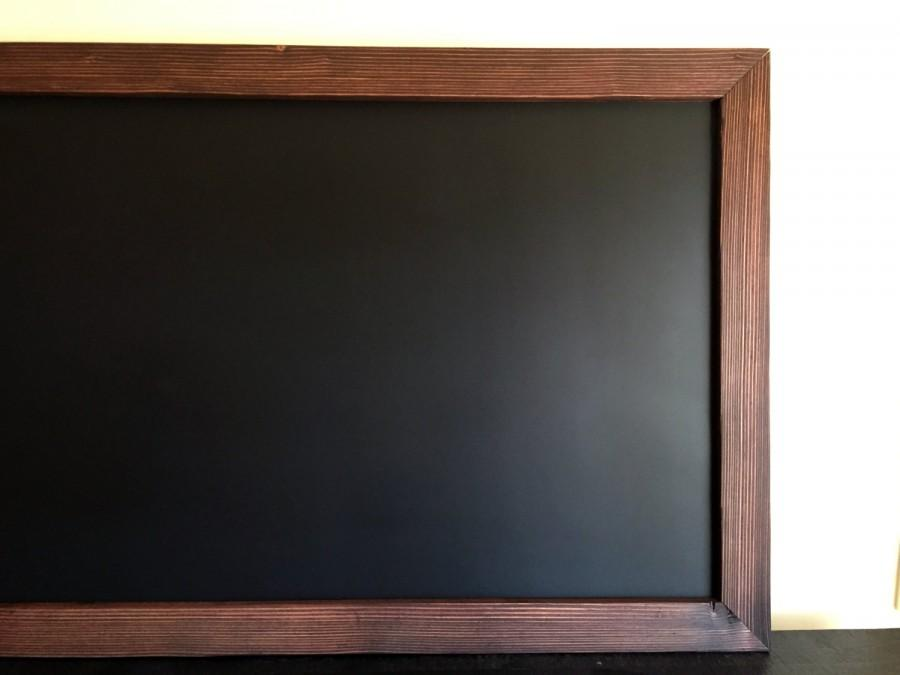 Large MAGNETIC Framed Chalkboard 48