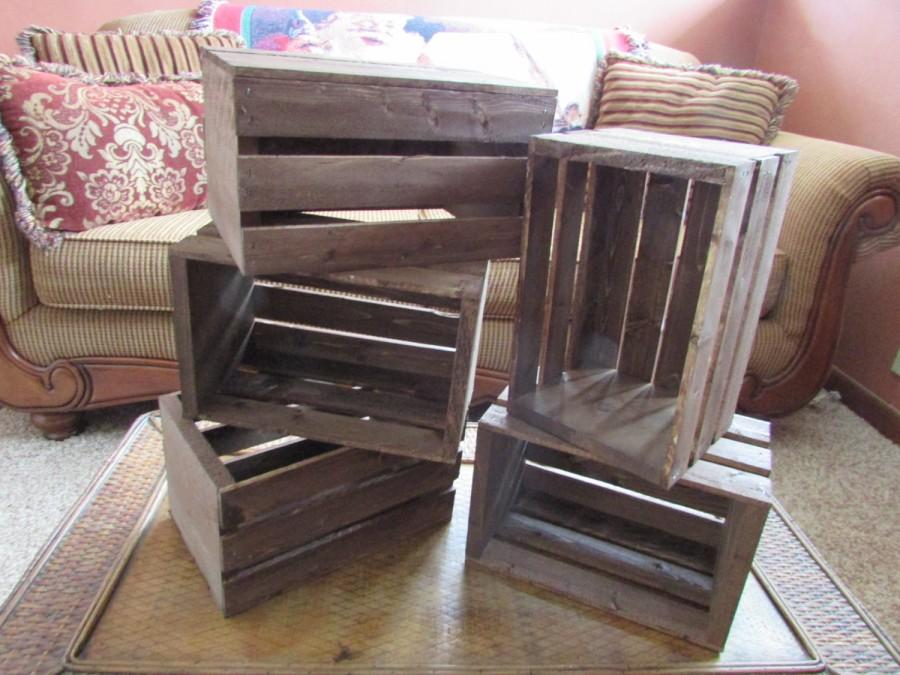 wooden crates 5 wood wedding reception centerpiece