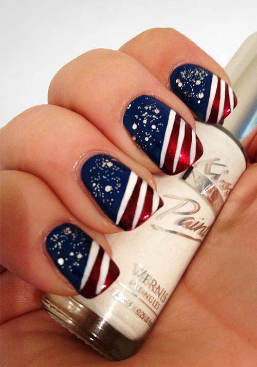 Свадьба - Fourth Of July Nail Art