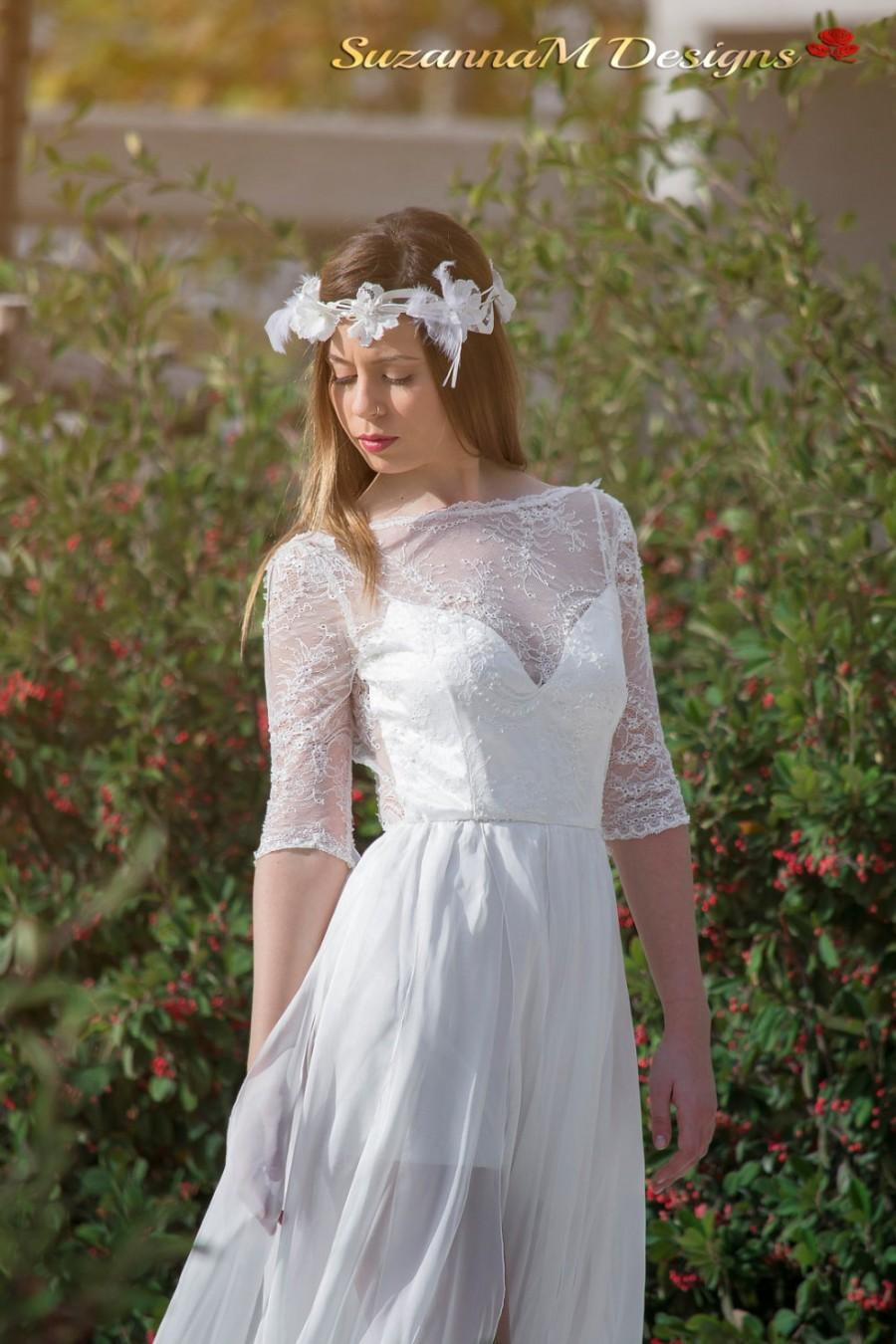 Wedding dress chantilly lace wedding dress airy silk chiffon wedding dress chantilly lace wedding dress airy silk chiffon bridal dress long wedding dress embroidered lace wedding gown suzannam designs ombrellifo Image collections