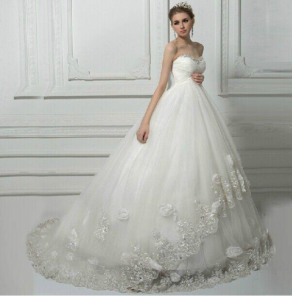 Wedding - Lace Flowers Maternity Wedding Dress