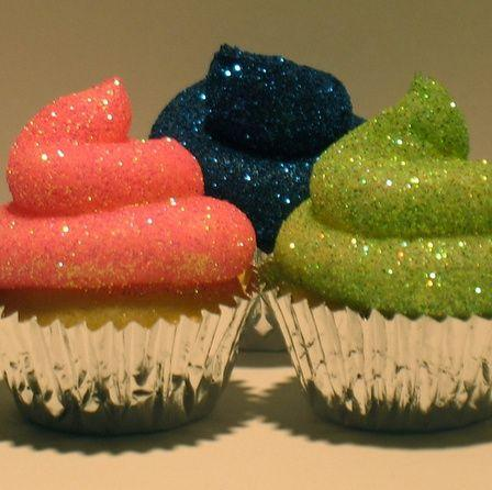 Wedding - Glitter Frosting Cupcakes