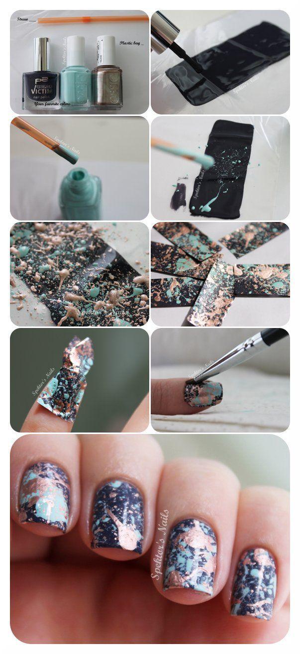 Свадьба - Spektor's Nails: Galaxy Splatter Nails   DIY Decals Tutorial