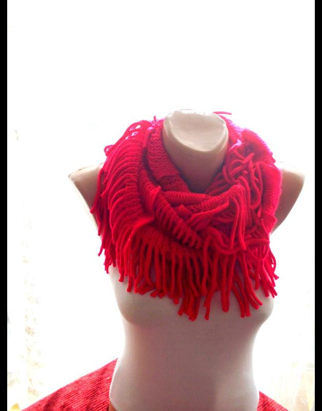 Red Infinity Scarf Braided Cable Knit 2468959 Weddbook