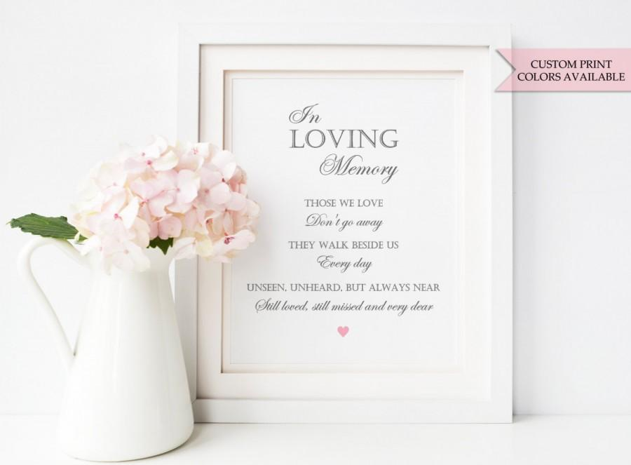 In loving memory sign in loving memory wedding sign wedding memorial sign elegant wedding for In loving memory wedding sign