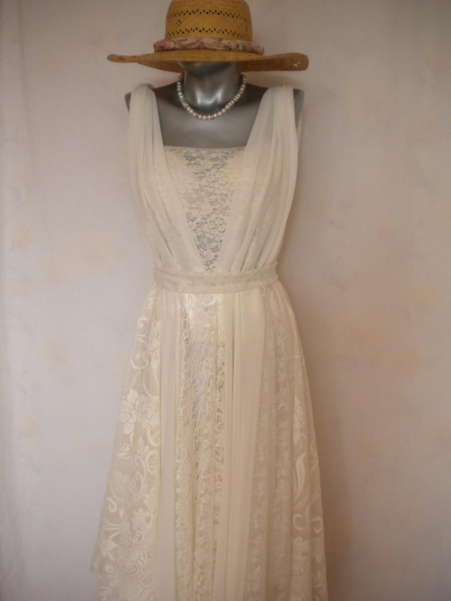 Boho Wedding Dress Bohemian Wedding Gown Fairy Beach Wedding ...
