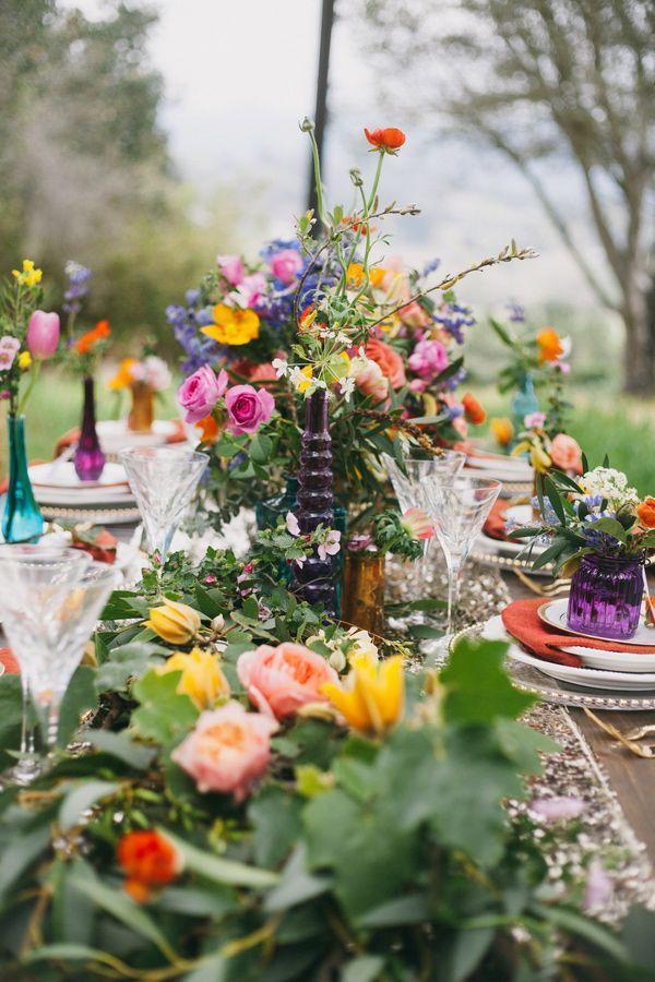 Wedding Theme Bohemian Garden Wedding With Color 2469056 Weddbook