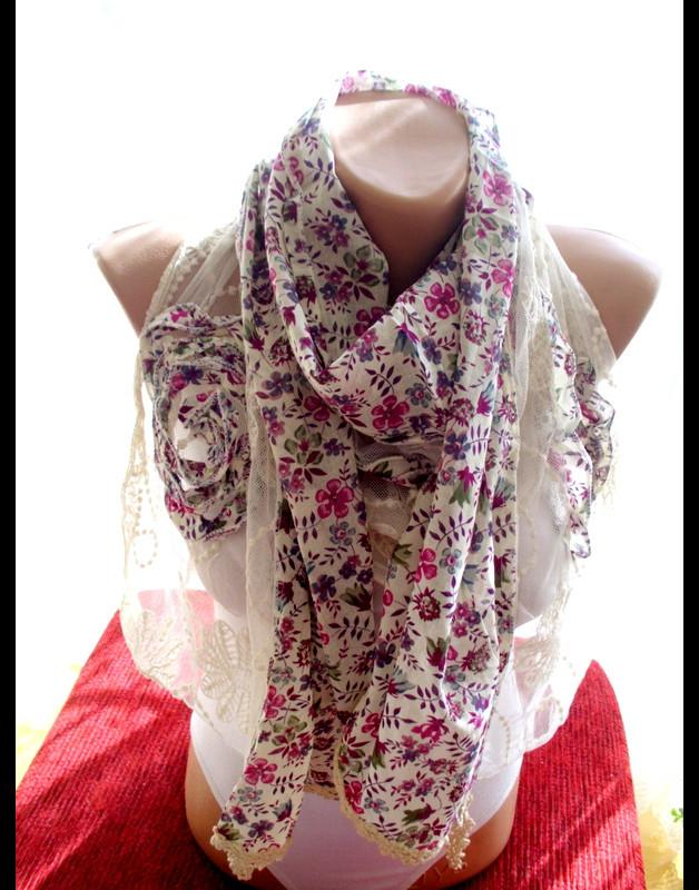 Hochzeit - Cotton lace Scarves lace fringes scarf