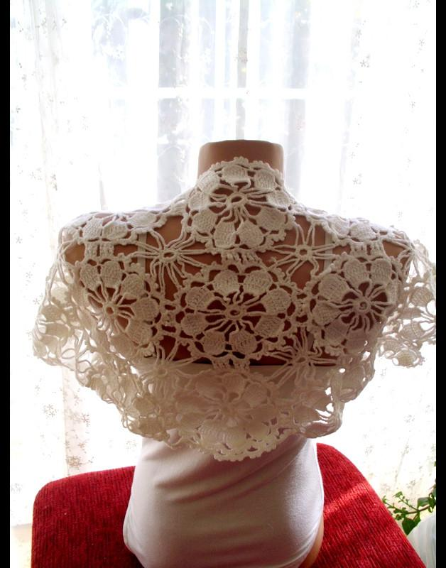 زفاف - Lace WEDDING BRIDAL BOLERO / Ivory Wedding Shrug