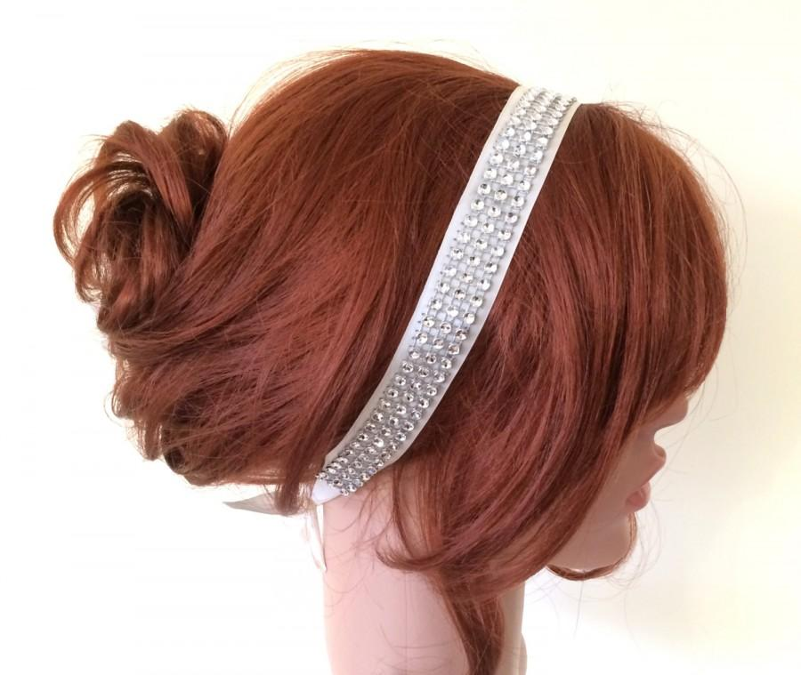 Mariage - Bridal Headband, Lace Headband, Glimmering Beads Embroidered Lace Hairband, Bridal hair, Headpiece, Beadwork, ReddApple, Fast Delivery