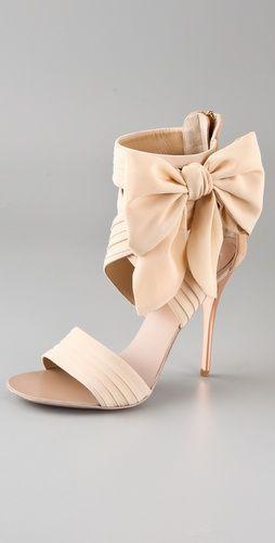 Свадьба - Chiffon Bow High Heel Sandals