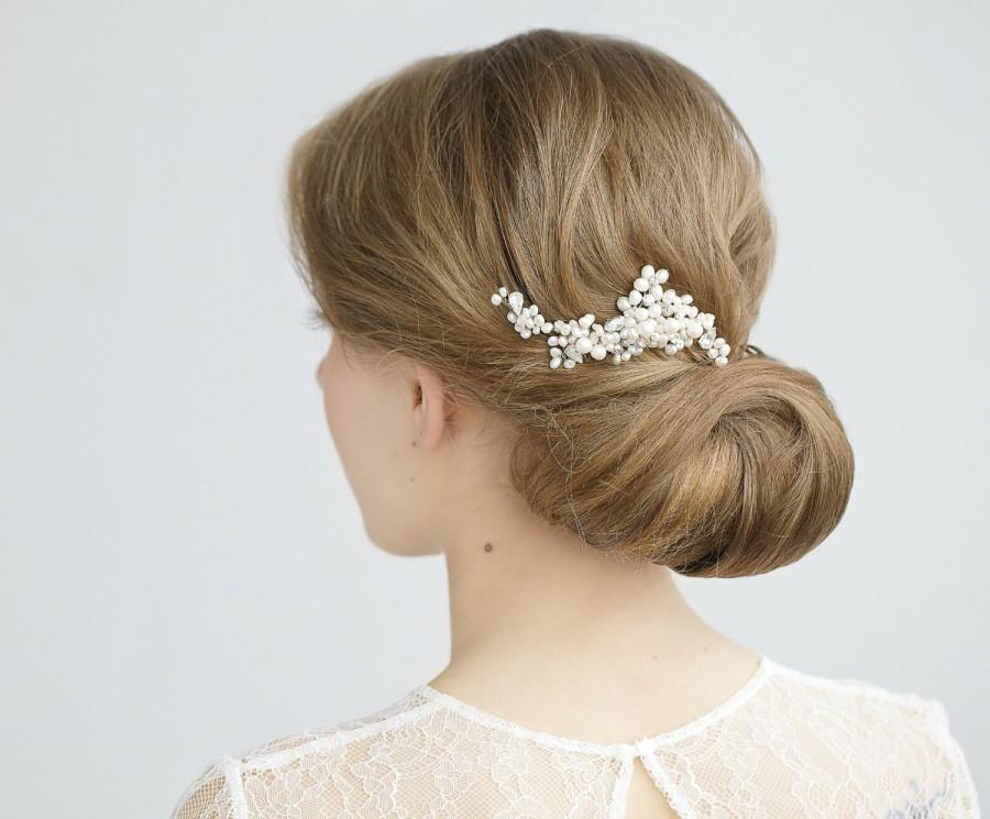 Mariage - Pearl Hair Comb, Wedding Hair Comb, Freshwater Pearl Hair Piece, Pearl Hairpiece , Bridal Hair Accessory