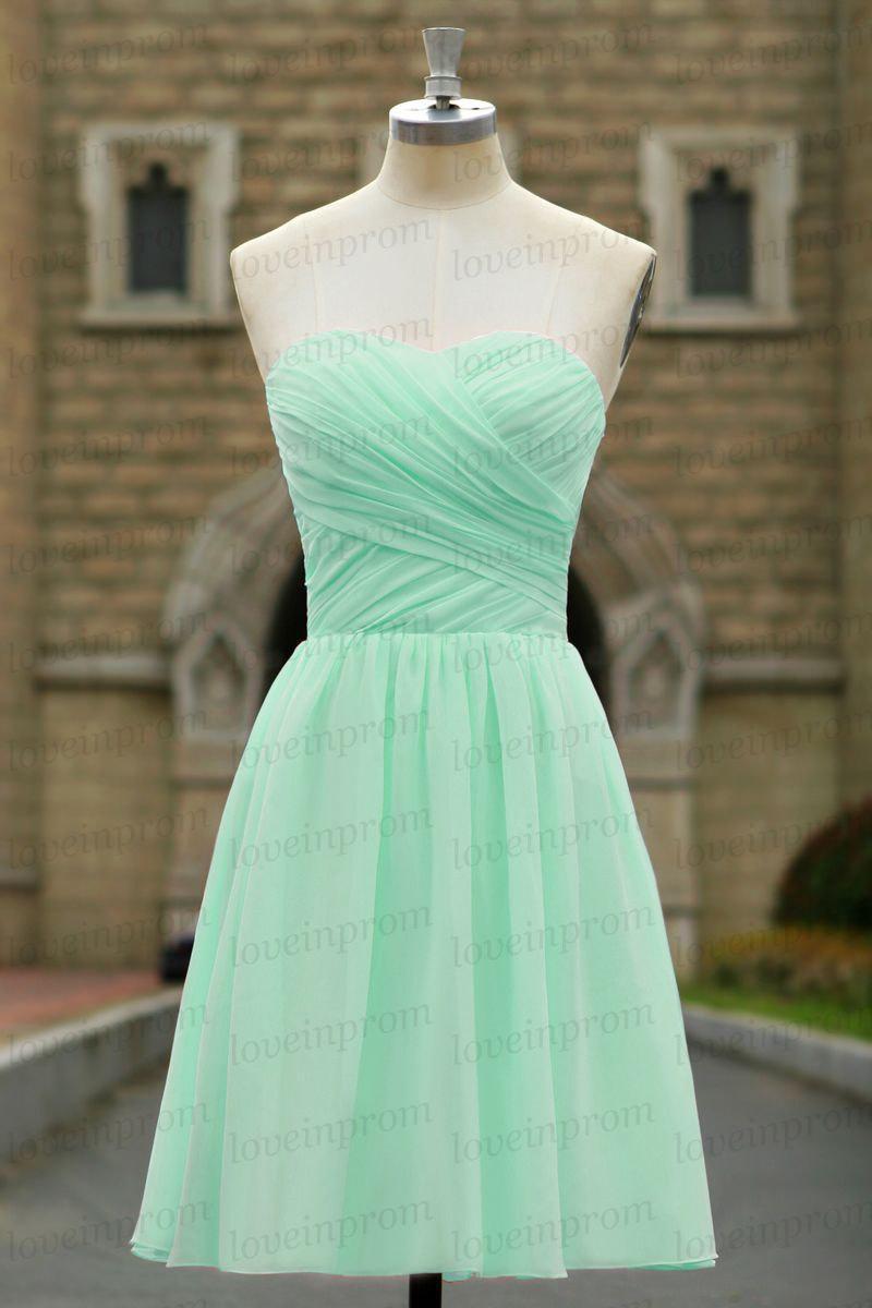 Mint Bridesmaid Dress,sweetheart Bridesmaid Dress,handmade Pleat ...
