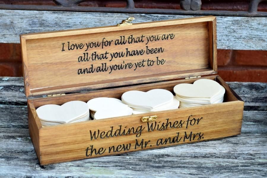 Wedding Advice Box Guest Book Alternative Wishing Well Rustic Decor Chic