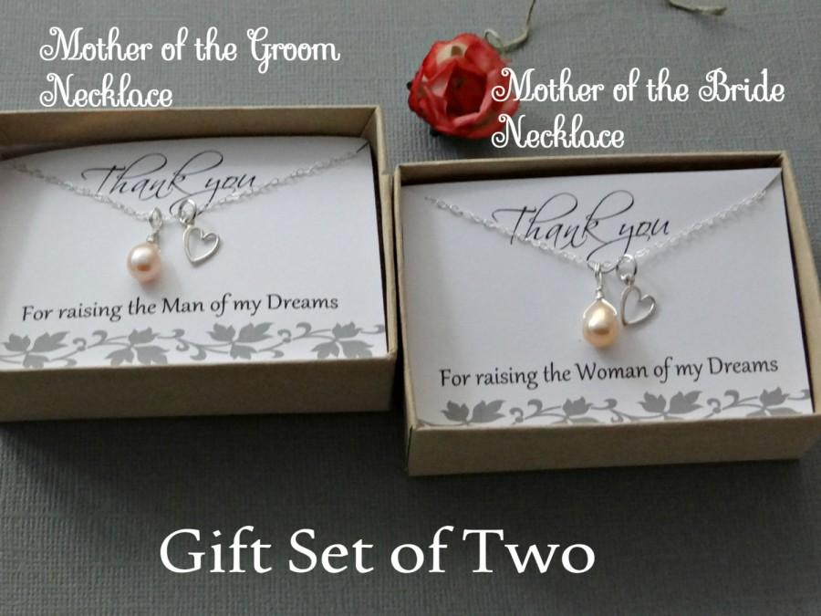 Mother Of The Groom Gift: Mother Of The Bride & Mother Of The Groom Necklace Gift