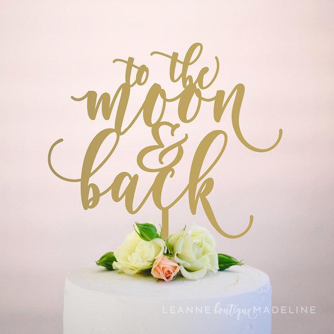 Свадьба - to the moon and back : wedding cake topper