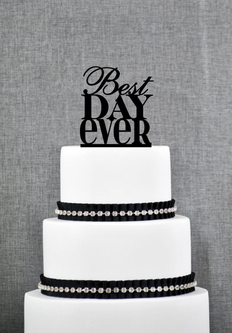 Mariage - Best Day Ever Cake Topper, Charming Cake Topper, Wedding Cake Topper, Engagement Party, Birthday Cake Topper, Engagement Gift (S059)