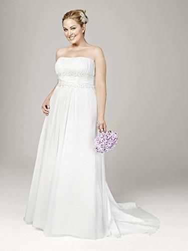 Chiffon A-line With Beaded Lace On Empire Waist Wedding Dress ...