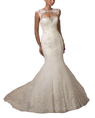 Wedding - Open Back Beaded Mermaid Wedding Dresses