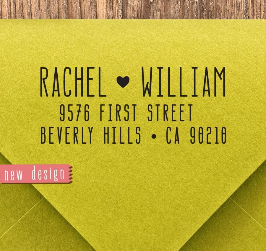 Wedding - CUSTOM pre inked address STAMP from USA, self inking address stamp, pre inked custom address stamp, address stamp with proof, classic b5-97