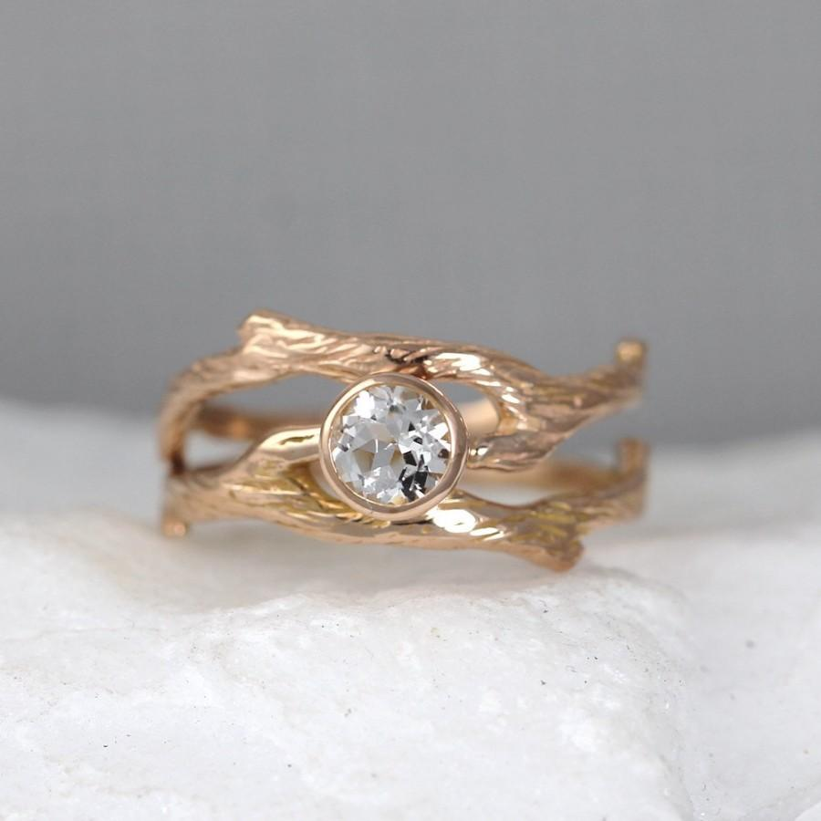 woodland branch twig wedding band or branch wedding ring twig wedding band branch ring zoom