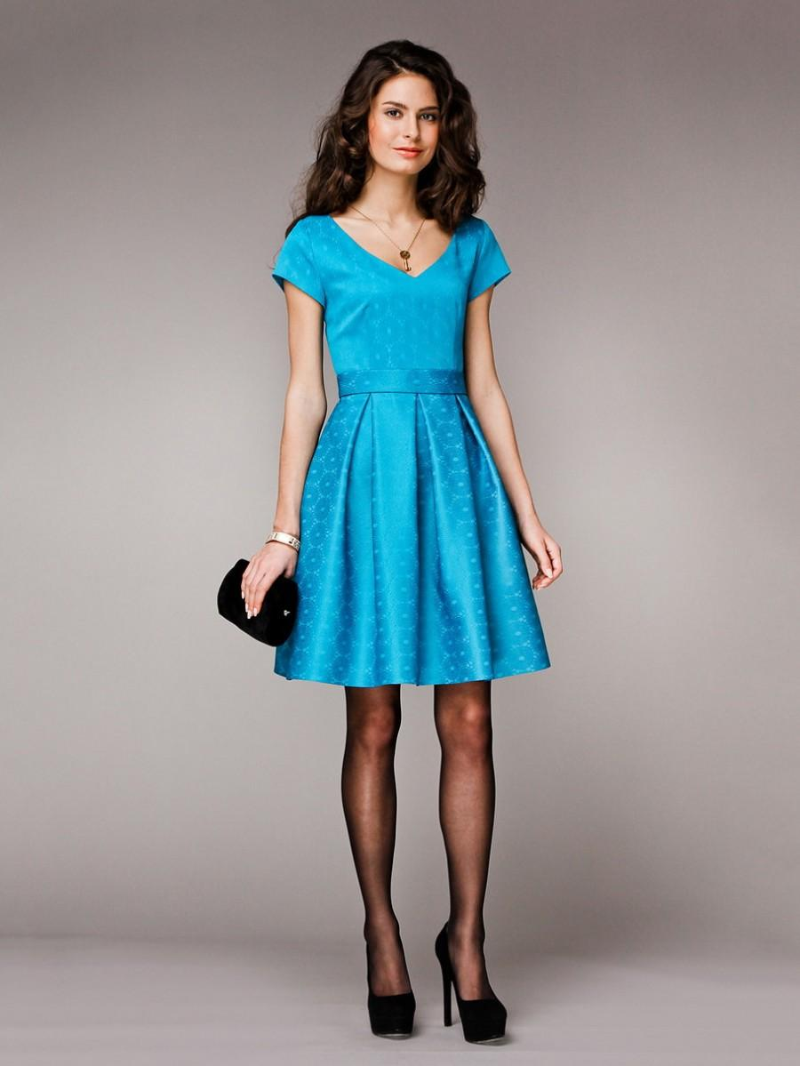 Gorgeous Dress, Bridesmaid Dresses Light Blue Turquoise Dress Pleats ...