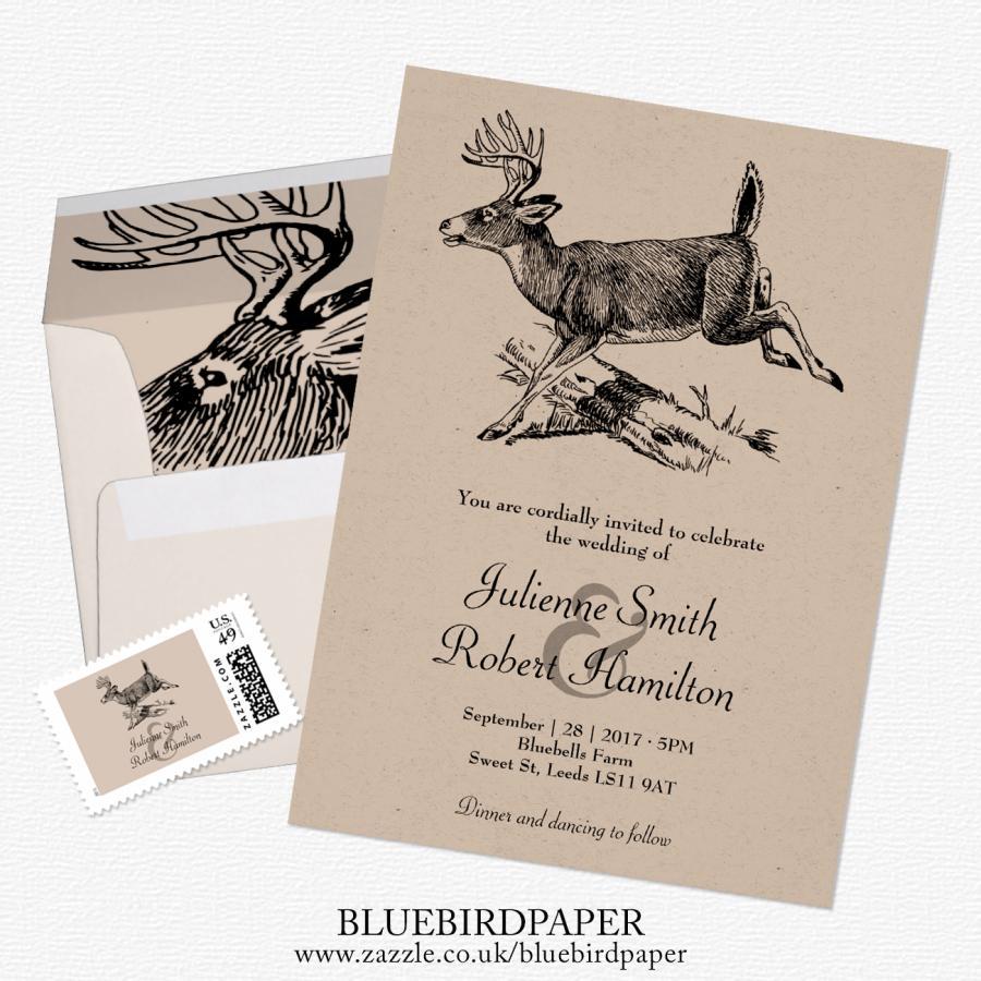 Woodland, A Rustic Deer Wedding Invitation #2469825 - Weddbook