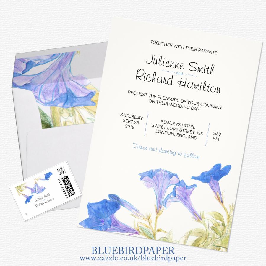 Mariage - Rustic Floral, a Spring 2016 Wedding Invitation