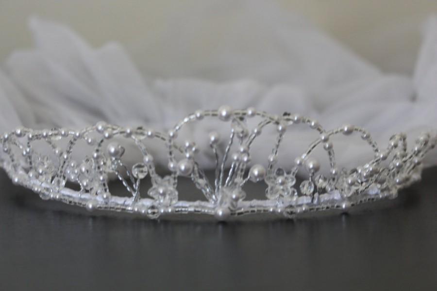 Hochzeit - First communion veil white -Flower girl veil