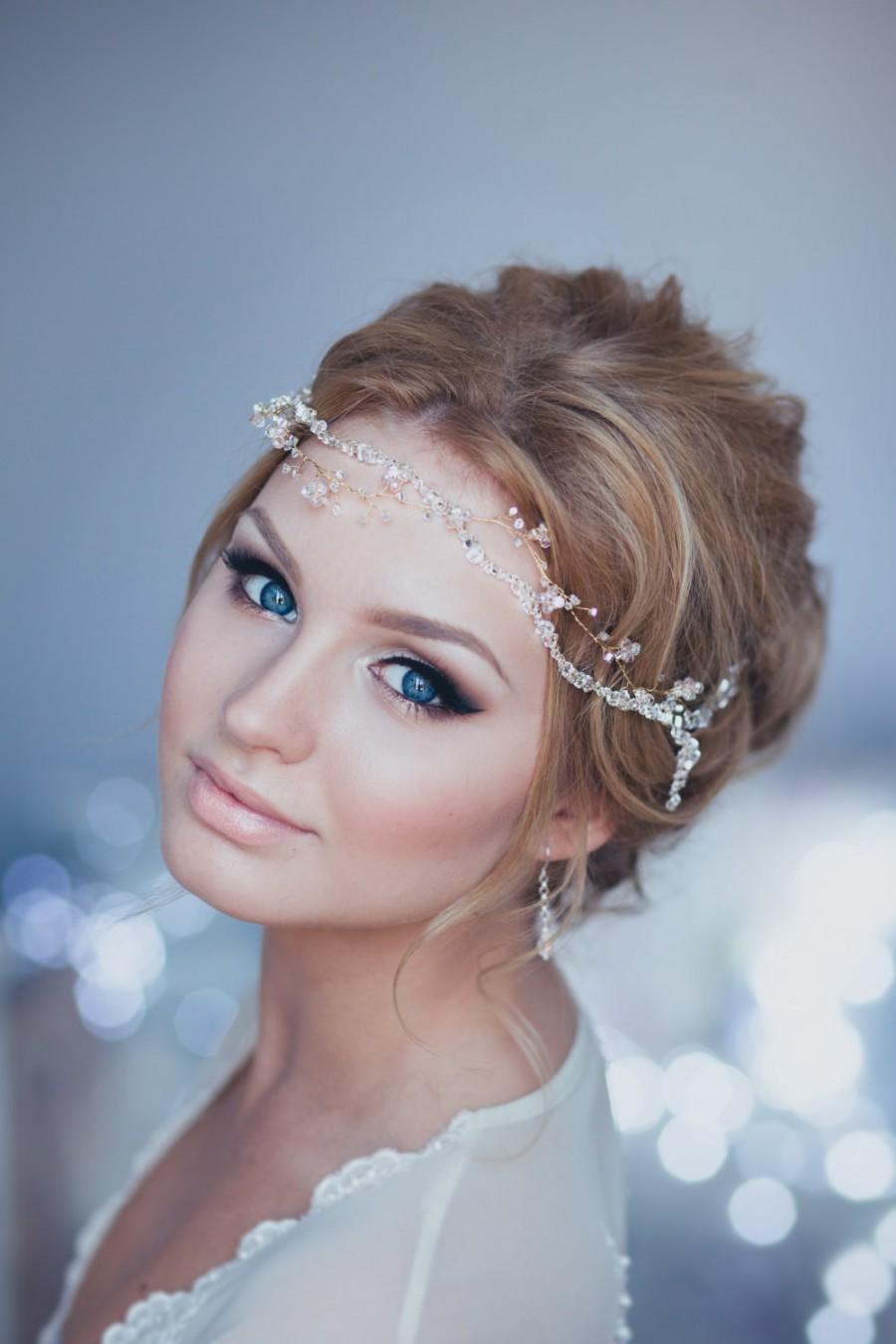 Bridal wreath Wedding headband Bride Diadem.