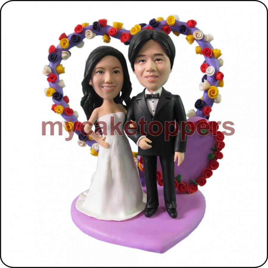 Mariage - Occasion wedding Cake Toppers, Figurine, personalized, birthday cake topper, customzied bride and groom cake topper, fun cake topper