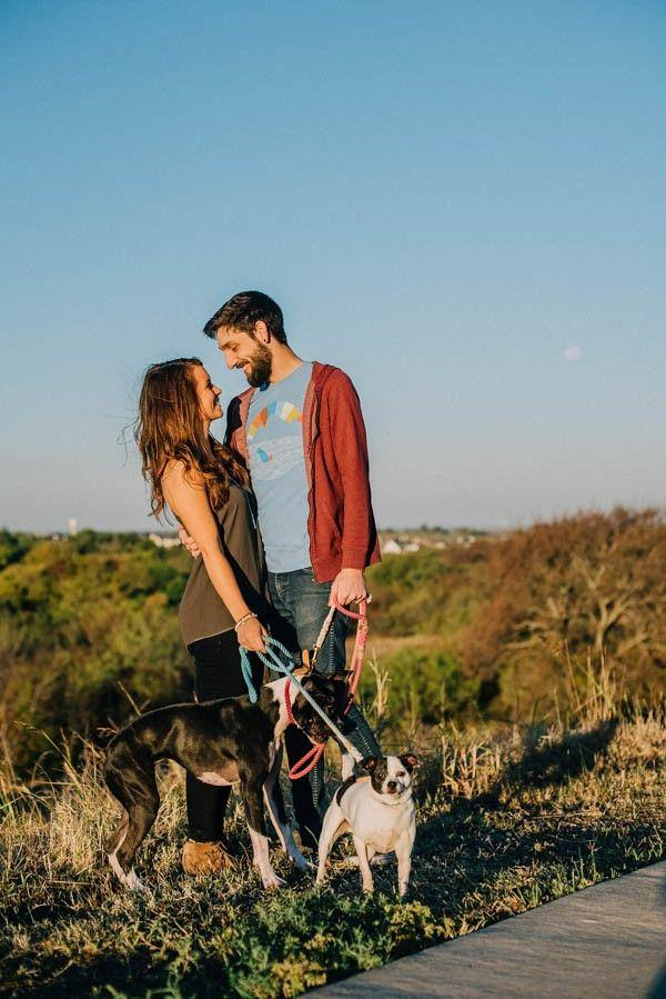 Wedding - Dog Lovers Engagement Photos In Plano, Texas