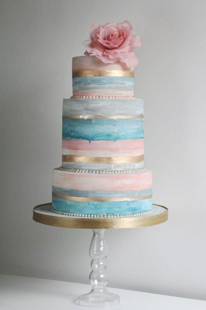 Свадьба - 12 Gorgeous Metallic Wedding Cakes