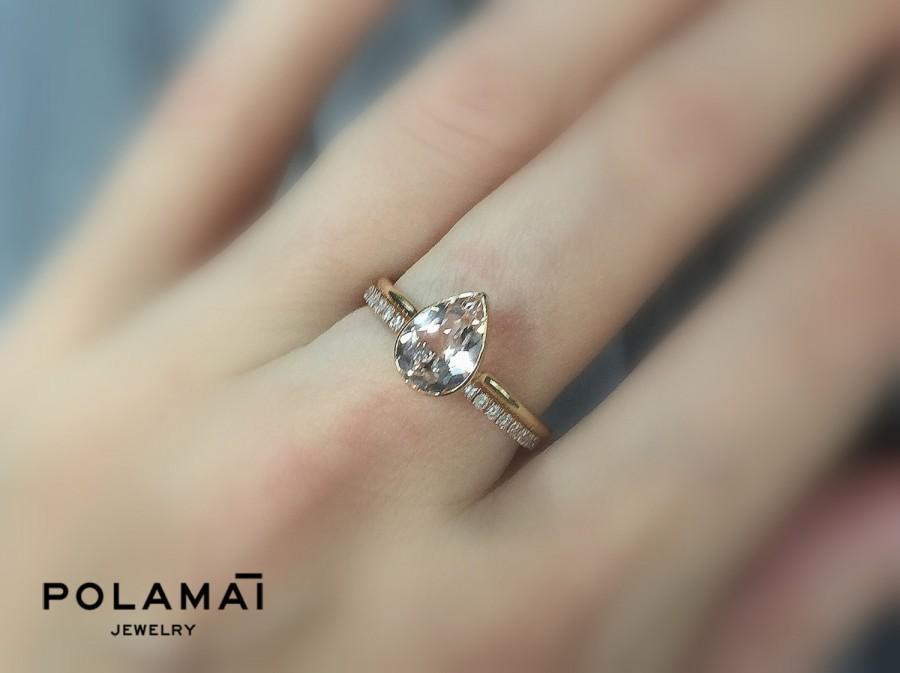 Bezel Set Pear Diamond Ring