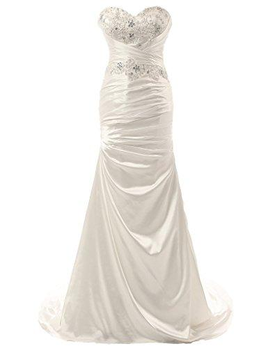 Wedding - Gorgeous Sweetheart Mermaid Satin Wedding Dress
