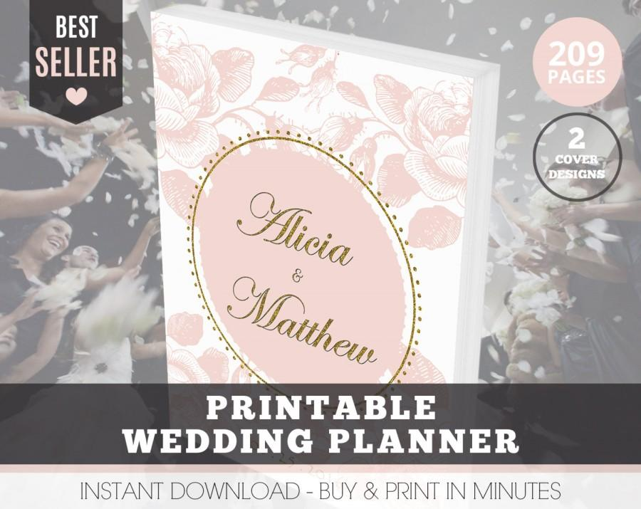 Hochzeit - Wedding Planner Organizer, Printable Wedding Planner - Organize your Wedding with 209 Pages and 2 Cover Designs