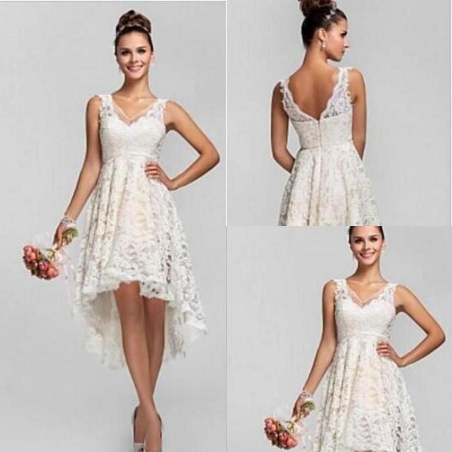 2016 new asymmetrical full lace bridesmaid dresses v neck hi lo 2016 new asymmetrical full lace bridesmaid dresses v neck hi lo dresses summer beach custom made short bridesmaids dresses online with 9273piece on ombrellifo Image collections