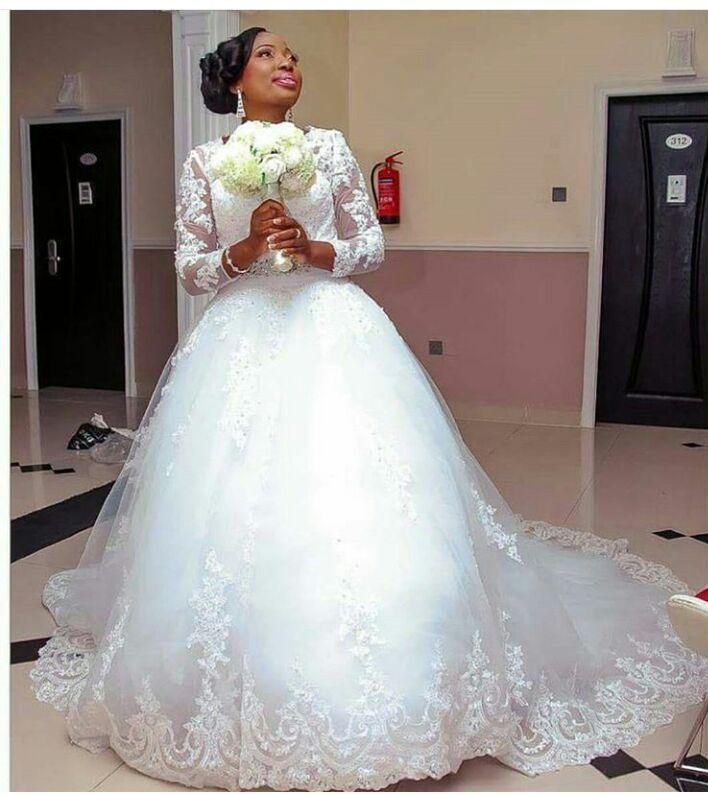 2016 New Beautiful Wedding Dresses Illusion Sheer Long Sleeve Tulle Lique Lace Beads Dress Bridal Gowns Online With 112 78 Piece On Hjklp88 S