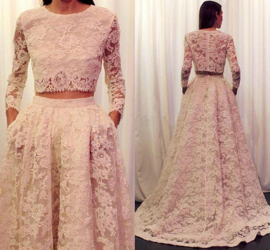 2016 lace wedding dresses long sleeve plus size wedding for Long sleeve plus size wedding dress